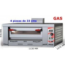HORNO A GAS 4 PIZZAS FLAME