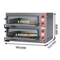 HORNO DOBLE DE 4 PIZZAS DE PIZZAGROUP