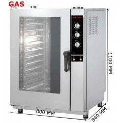 HORNO GAS 11 GN 1/1 ANALOGICO INOXTREND COMPACT