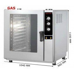 HORNO GAS 11 GN 2/1 ANALOGICO INOXTREND COMPACT