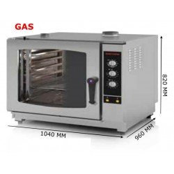 HORNO GAS 7 GN 2/1 ANALOGICO INOXTREND
