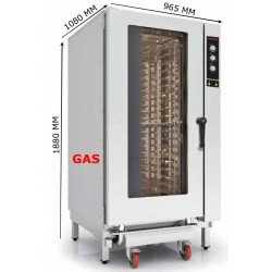 HORNO GAS 20 GN 1/1 ANALOGICO INOXTREND COMPACT