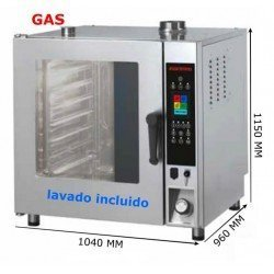 HORNO GAS 11 GN 2/1 PROGRAMABLE INOXTREND