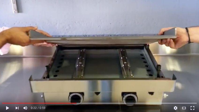 Video de plancha gas PGCH60